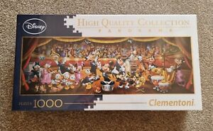 Clementoni 1000 Piece Panorama Jigsaw Puzzle Disney Orchestra New & Sealed