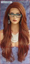 Lace Front Wig CLR RED F33.130 LONG FLOWING SLINKY WAVES FAST SHIP US SELLER 180