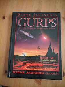 GURPS Basic Set third edition manual - hardcover - Steve Jackson Games