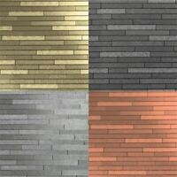 Arthouse Slate Foil Metallic Sparkle Brick 4 Colours Wallpaper Roll 10M