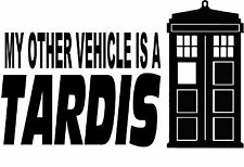 Decal Vinyl Truck Car Sticker - Doctor Who My Other Vehicle Is A Tardis