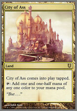 MTG magic *CITY OF ASS* Unhinged Land Rare