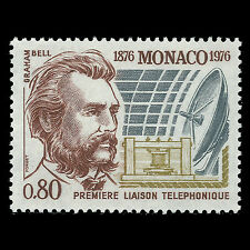 Monaco 1976 - 100th Anniversary of the Telephone Technology - Sc 1019 MNH