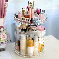 Cosmetic Makeup Organizer Storage Box Shelf Rotating Display 360 Degrees Acrylic
