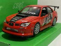 Subaru Impreza Performance Rouge Noir 1:24 Echelle Welly 22487SR