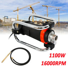 1100W Electric Concrete Vibrator Motor w/ 14-3/4 Ft Poker to Remove Air Bubble