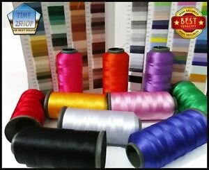 10 Colours Strong Silk Rayon Cone Embroidery Machine Thread Basic Colors |UK