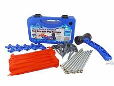33 Piece Awning Tent Peg & Mallet Camping Kit Cleaner w Carry Case LWACC430