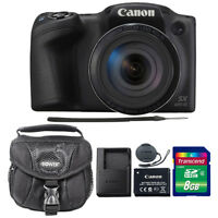 Canon PowerShot SX420 IS 20MP Digital Camera Black with 8GB Accessory Kit & Case