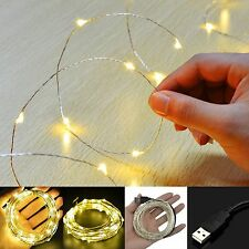 20 LEDs USB POWER Kupferdraht Lichterkette Party Stripe Wasserdicht Beleuchtung