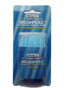 Welters Brushpicks - 150 Interdental Hygiene Sticks in a Plastic Box