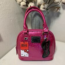 NEW Loungefly Hello Kitty Embossed Large Bag - Pink Patten Leather
