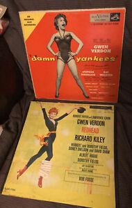 Gwen Verdon Bob Fosse LP lot Redhead & Damn Yankees soundtrack cheesecake