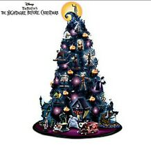 Huge Disney Nightmare Before Christmas tree and village lot of 7