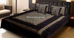 Designer Orange Kantha Bedding Elephant Polydupion Throw Bedspread Throw