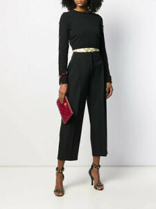 VERSACE 1600$ Medusa Buttoned Sleeve Cropped Jumper Sweater