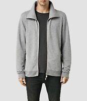 All Saints Mens Designer Funnel Neck Zip Cardigan AllSaints Sweatshirt Eturn Gry