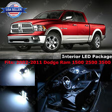 11x White LED Light Interior Package Deal For 2002-2011 Dodge Ram 1500 2500 3500
