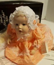 Yolandas Picture Perfect Babies Heather Porcelain Doll Posed On Belly Mint