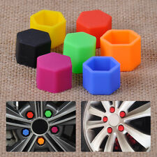 20pcs Black Silicone Wheel Screw Nut Bolt Antirust Protect Cover Tyre Cap 21MM