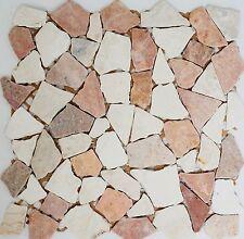 Mosaik Fliese Marmor Naturstein rot beige Bruch Ciot Rosso 44-1002_f 10 Matten