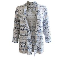 *New* New Look Blue Floral Kimono Jacket Top ~ UK Size 12