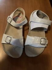 New Beautiful Stride Rite Girl Sandals Size 13 Color Silver