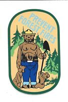 "Smokey The Bear Sticker Vinyl Decal with Cubs Vintage U.S.F.S. 4 1/2"" x 2 7/8"""