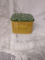 Sylvac Basket Pattern Storage Jar #5038, TEA BAGS