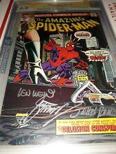 3x Signed Amazing Spider-Man #144 CGC SS John Romita Sr. Len Wein  Gerry Conway