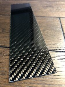 Carbon Fibre Plate 2mm Sheet 100% Real Solid Twill 200x50x2mm UK 🇬🇧