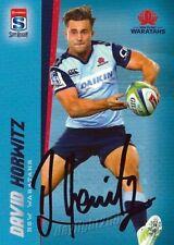 ✺Signed✺ 2017 NSW WARATAHS Rugby Union Card DAVID HORWITZ