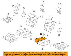 AUDI OEM 07-15 Q7 Second Row Rear Seat-Seat Cushion Cover Left 4L0883405FK15