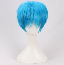 ACCA 13 Territory Inspection Dept Nino Short Blue Cosplay Hair Wig +a wig cap