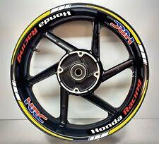 Honda Racing HRC FLUORESCENT YELLOW & White Reflective Wheel Rim 025/039
