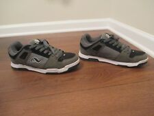 Classic Used Worn Size 10 Adio Duke Skateboard Shoes Gray Black White