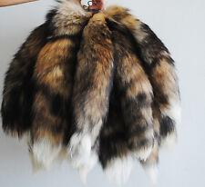 1PC Genuine Fox Tail Key Chain Fur Tassel Bag Tag Charm Keyring Chain Black
