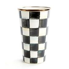 Kenzie Childs Courtly Check Enamel 20 oz. Tumblers # 89606