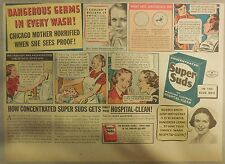 Super Suds Ad: Dangerous Germs In Every Wash ! 1940's