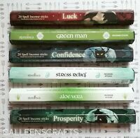 Spell incense sticks, Witchcraft Supplies, 6packs of incense, meditation incense
