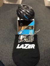 Lazer Cosmo with Aeroshell black / blue Medium 55-59cm helmet, bag included, new
