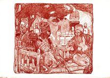 "Original 1898 Studio Lithograph ""The Story"" by Frank Brangwyn"