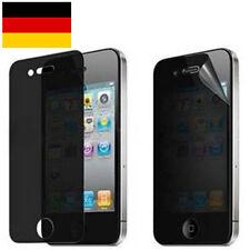 iPhone 4 4S Privacy Displayschutzfolie Blickschutz Antispy Schutzfolie Schwarz