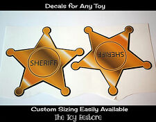 New Replacement Decals Stickers for Little Tikes Step2 Sheriff Coupe Car Star