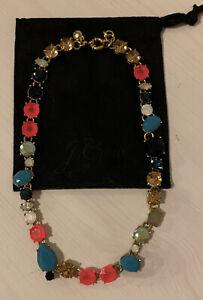 J Crew Multi Color Jewel Necklace