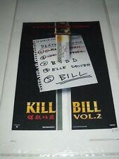 Kill Bill Vol 2 Tarantino  Locandina Originale POSTER 33X70