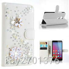 Diamonds Crystal Handmade Rhinestone Jewelled wallet leather Phone Case Cover B