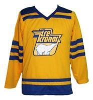 Custom Name # Sweden Tre Kronor Retro Hockey Jersey New Lindbergh Any Size