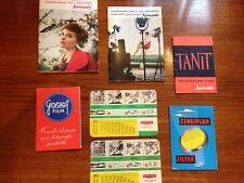 N.7 Manuali fotografici Ferrania-Gevaert-Ceneiplan-Tanit anni 50/60