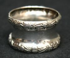 Napkin Ring, 800 silver, Posen, Germany, repousse, Victorian, 19th century